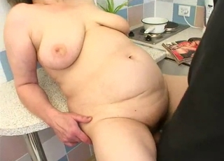 Chubby mature and a perverted youngster