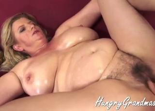 Fat old mom takes a very big boner