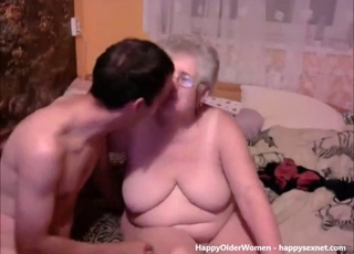 Fat old slut and a horny young man