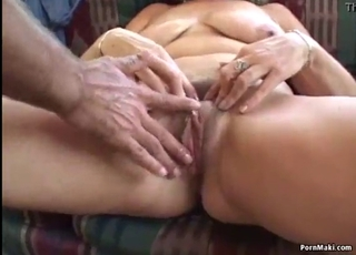 Busty mature is sucking with pleasure