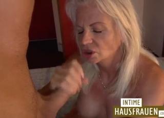 Blonde mature gives a gorgeous blowjob