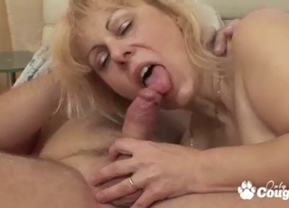 Beauty blonde is trying intensive anal