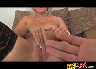 Inked MILF roughly fucked on the casting