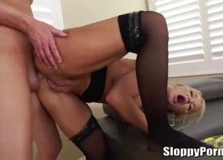 Brutal amateur porn with a busty blonde